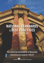 Book Cover Image: 'National Standards and Best Practices for US Museums'